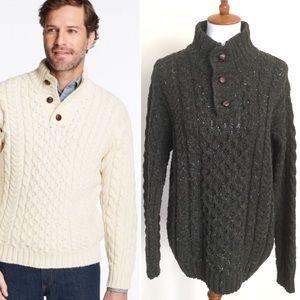 L.L. BEAN Heritage Irish Wool Fisherman Sweater